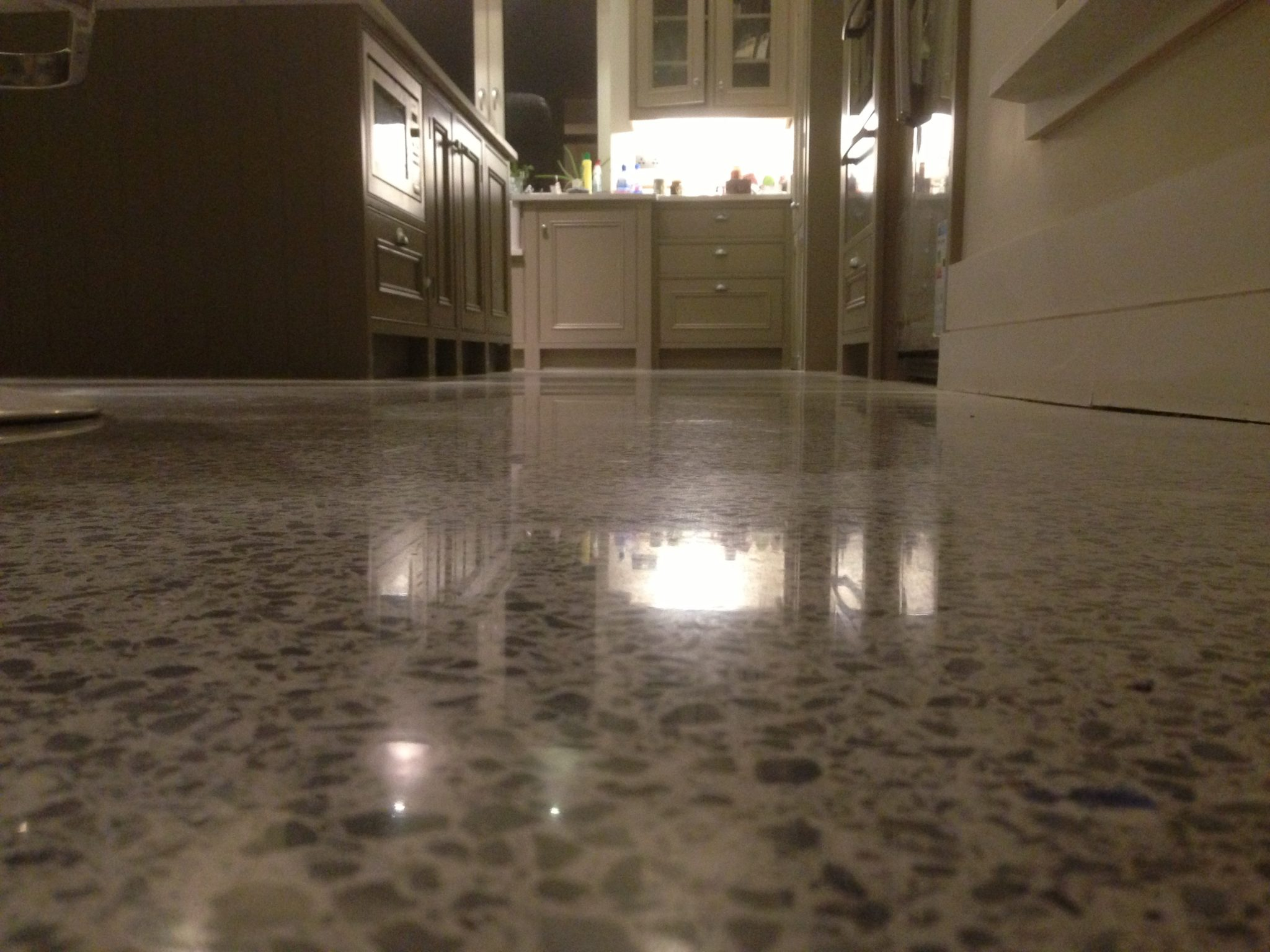residential polished concrete floor
