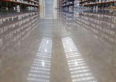 Power Trowel Fast polished concrete system