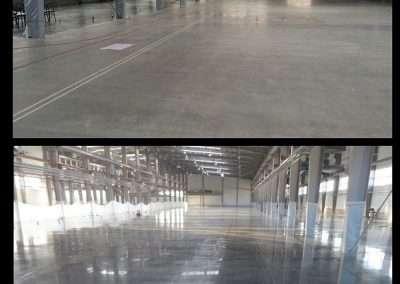 Industrial polished concrete floor industrial floor
