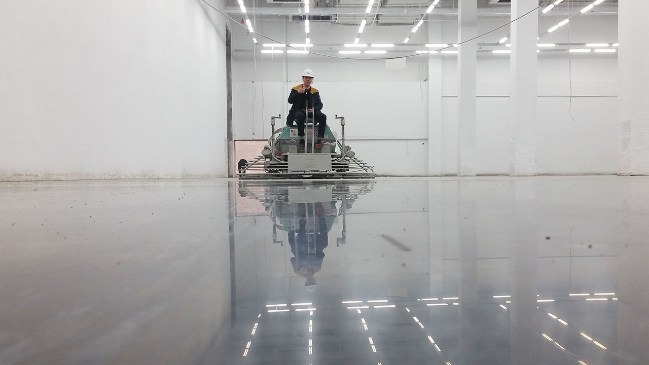 Concria Fast Power Trowel polished concrete  system