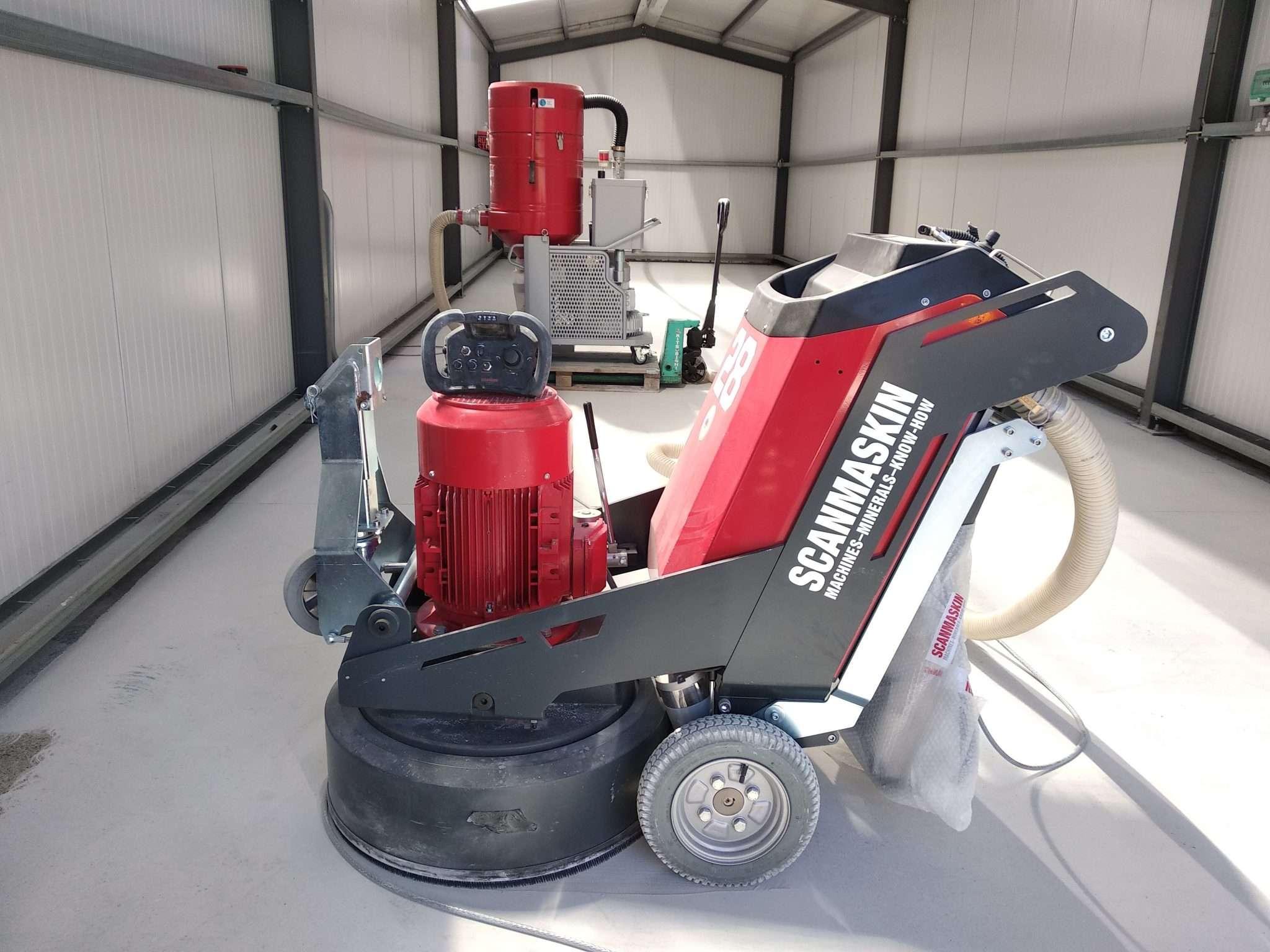 Scanmaskin WS28RC grinder plus Scandust 8000 vacuum